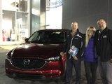 Félicitations M. Melançon et Mme Richard pour votre nouvelle Mazda CX5 2017, Chambly Mazda