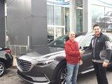 Félicitations M. Faghali pour votre nouvelle Mazda CX9 2017, Chambly Mazda