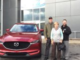Félicitations Monsieur Couture pour votre nouvelle CX5 2017, Chambly Mazda