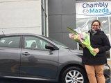 Félicitations à Dominique Champoux pour sa nouvelle voiture, Chambly Mazda