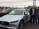 Félicitations Monsieur Gantman pour votre nouvelle CX5 2017, Chambly Mazda