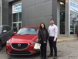Félicitations à Mme Vega Contreras pour votre nouvelle CX3 2018, Chambly Mazda