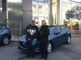 Félicitations Monsieur Telmosse pour votre nouvelle Mazda3 2018, Chambly Mazda