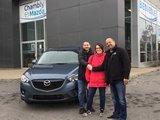 Félicitations Monsieur Lavrov et Mme Boucher pour votre Mazda CX5, Chambly Mazda