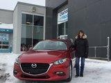 Félicitations Madame Poirier pour votre nouvelle Mazda3 GS 2018, Chambly Mazda