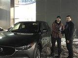 Félicitations à Monsieur Emanuel Drolet pour votre nouvelle CX5 2017, Chambly Mazda