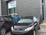 Félicitations à M. Martin Jutras Lavigne pour votre Mazda 2, Chambly Mazda