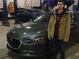 Félicitations à Édouard champigny pour votre nouvelle Mazda 3 GT, Chambly Mazda