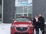 Félicitations à Madame Bourdon pour votre nouvelle CX3 2018&&&, Chambly Mazda