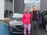 Félicitations Mme Sorel pour votre Mazda 3 , Chambly Mazda