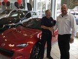Félicitations à Monsieur François Dufresne pour sa nouvelle MX5 Gt, Chambly Mazda