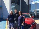 Félicitations Madame Vézina pour votre nouvelle Mazda3 Gt, Chambly Mazda