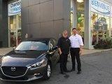 Félicitations M. Fontaine pour votre nouvelle Mazda 3 2018, Chambly Mazda