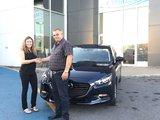 Félicitations à Mme Marie Michèle Théoret pour sa nouvelle Mazda 3 2018, Chambly Mazda