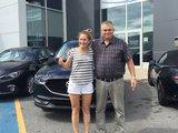 Félicitations à Madame Vouligny pour l'acquisition de sa nouvelle Mazda CX5 2018, Chambly Mazda