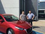 Félicitations à madame Mergeron pour votre nouvelle Mazda 3 2018, Chambly Mazda