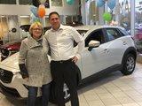 Félicitations madame Vallée pour votre nouvelle voiture CX3 2019, Chambly Mazda