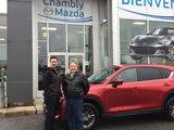 Félicitations Monsieur Gauthier pour votre nouvelle Mazda CX5, Chambly Mazda