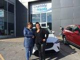Félicitations à madame Lebel pour sa nouvelle Mazda CX 3, Chambly Mazda