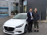 Félicitations à Mme Hébert pour sa Mazda 3 2018, Chambly Mazda