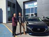 Félicitations M. Lavoie pour votre nouvelle Mazda 3GT 2019, Chambly Mazda