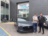 Félicitations à M. Larouche pour sa nouvelle Mazda 3 2019, Chambly Mazda