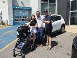 Félicitations Mme Brunelle pour l'achat de votre voiture CX5, Chambly Mazda