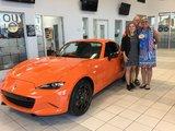 Félicitations M. et Mme Varin pour l'achat de votre nouvelle Mazda MX5  30è anniversaire.  Version limité, Chambly Mazda