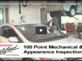Honda Certified Used Vehicle Program 1: Mechanical and Appearance Inspection