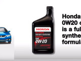 Honda 0W20 Synthetic Oil Presentation