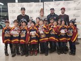 Andrew Shaw, Paul Byron and Marie-Philip Poulin meet local hockey players