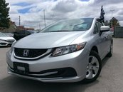 Honda Civic LX  POWER WINDOWS  ALLOY WHEELS  AUX 2015