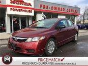 Honda Civic Sdn DX*4 DOOR* $35.92 WEEKLY! A/C. FUEL EFFICIENT!AUTO 2009