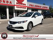2013 Honda Civic Sdn LX* LOW KM'S! BLUETOOTH! HEATED SEATS! AUTO!