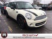 2013 MINI COOPER Baker Street LEATHER CLOTH COMBO PEPPER WHITE ON BLACK LOW KM