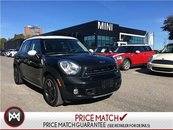 2015 MINI COOPER S Countryman ALL4 PANO COMFORT 17'S XENONS BLACK ON BLACK