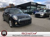 2015 MINI Cooper 3 DOOR ESSENTIALS BLACK ON BLACK AUTO PANO