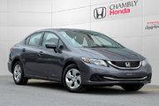 Honda Civic LX*AUTO*A/C*BLUETOOTH*SIEGES CHAUFFANTS 2014 *69$/SEM*GARANTIE 3 ANS/60 000 KM*