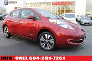 2015 Nissan Leaf SL LOCAL BC VEHICLE FREE HOME CHARGER