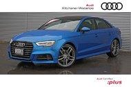 2018 Audi S3 2.0T Progressiv quattro 7sp S tronic