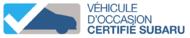 Véhicules d'occasion certifiés Subaru