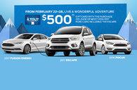 Quebec Ford dealers offer you a $500 Carte à tout
