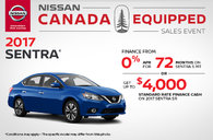 Big Savings on the 2017 Nissan Sentra!