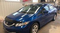Honda Civic Sedan LX **AVEC 4 PNEUS HIVER** 1 SEUL PROPRIO, SIEGES CHAUFFANTS + AIR CLIMATISÉ 2014