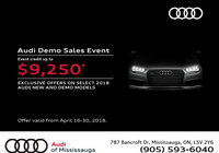 Audi Demo Sales Event at Audi of Mississauga