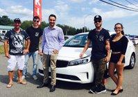 Félicitations à Monsieur Bellemare pour son tout premier véhicule neuf !!!! KIA FORTE 2017!!!