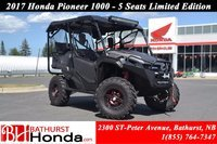 2017 Honda Pioneer 1000 Limited Edition - 5 seats