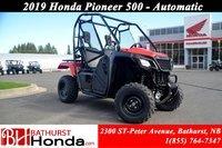 2019 Honda Pioneer 500 2 seats