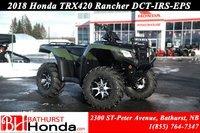 2018 Honda TRX420 RANCHER DCT - IRS - EPS