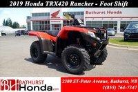 2019 Honda TRX420 Rancher - Foot Shift
